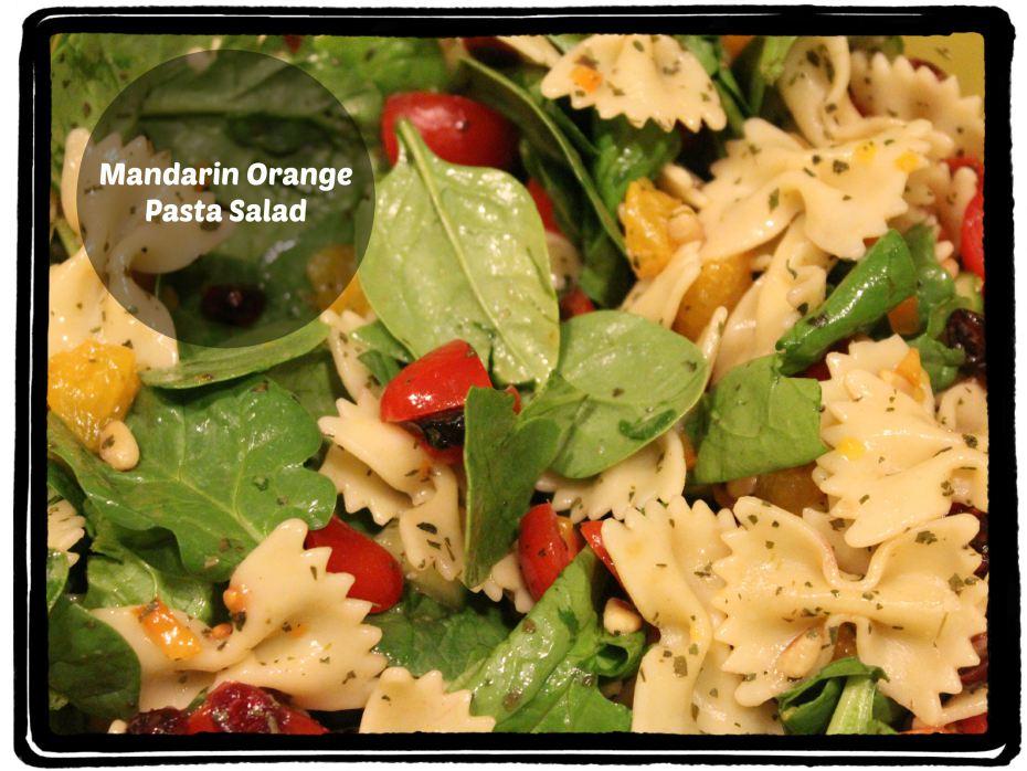 Mandarin Orange Pasta Salad with Teriyaki Dressing